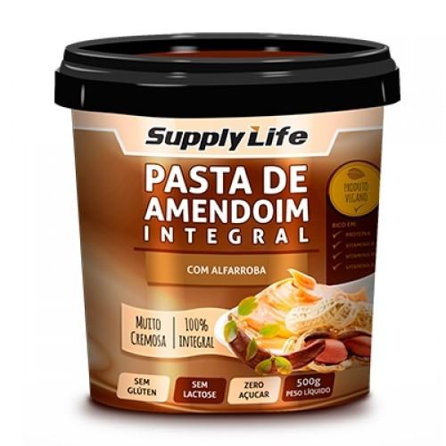 PASTA DE AMENDOIM INTEGRAL C/ ALFARROBA - 500g