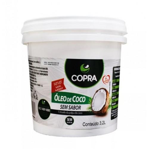 BALDE DE ÓLEO DE COCO SEM SABOR – PARA FRITURAS - 3,2L COPRA
