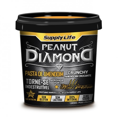 PASTA DE AMENDOIM INTEGRAL DIAMOND CROCANTE - 1KG